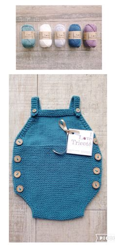 Summer baby dungarees Designed and Knitted by I Love Tricoté ❤️ #ilovetricote #babydungarees #babyknits