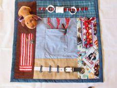Puppy Pal Fidget Quilt Tactile  Bright & by EndearingDignite, $40.00