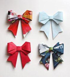 プレゼントにインテリアに♡折り紙で作る立体リボンが可愛い!