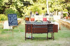 Southern wedding - creative bar station