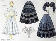 mayo 2017 – Miss Dingle Usa Culture, European Dress, Paper Dolls Printable, Vintage Paper Dolls, Mannequins, Fashion History, Traditional Dresses, Creative, Ballet Skirt