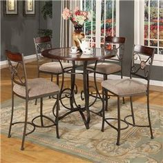 Lifestyle DC067 Metal Pub Table and Chair Set $400