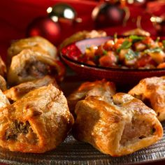 Perfect for nibbles or as a starter, try this recipe for slightly spicy sausage rolls - made with Jus-Rol ready rolled puff pastry and wholegrain mustard.