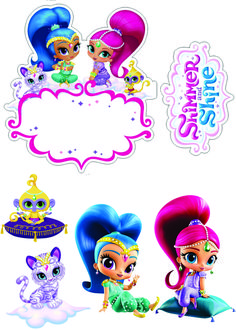 1st Birthday Parties, Happy Birthday, Baby Life Hacks, Shining 2, Shimmer N Shine, Lol Dolls, Cake Toppers, Baby Dolls, Party Favors