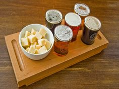 The Tap offers 10 real ales on hand-pull, showcasing 5 of their own brews and 5 guest ales. 'The Legendary Rack' is a great induction to the art of ale tasting, perfect for the indecisive or great to share. Basically, you get five one-third pints of ale, accompanied by a bowl of locally sourced cheese #DerbyUK; http://www.visitderby.co.uk/index.php/?cID=269