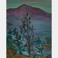 Frederick Varley - Kootenay Lake B. 15 x 12 Oil on canvas board - Group of Seven, Canada Canadian Painters, Canadian Artists, Landscape Art, Landscape Paintings, Group Of Seven Artists, Emily Carr, Fine Art Auctions, Canvas Board, Modern Artists