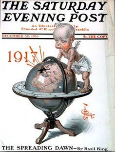 J.C. Leyendecker, 1917 New Year's baby.