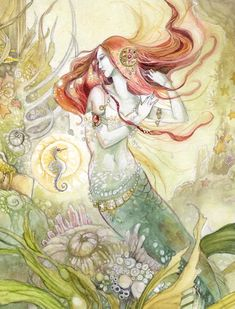 I love you enough to accept who you are. Why can't I have received the same feeling in return? ~ Ariel {art by Stephanie Pui-Mun Law} Fantasy Mermaids, Mermaids And Mermen, Mermaid Illustration, Illustration Art, Magical Creatures, Fantasy Creatures, Water Fairy, Mermaid Fairy, Fairytale Fantasies