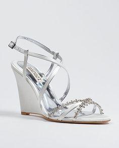 gisele wedge wedding shoe