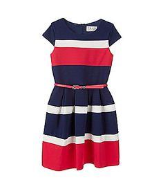Blush by US Angels 716 Colorblocked Ponte Dress #Dillards