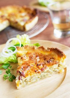 quiche with artichoke and pancetta, looks good, but I'd try it with homemade dough
