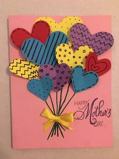 Mother day card mothersdaycard mothersday card diy mom 4 easy mother s day cards to make Kids Crafts, Diy Mother's Day Crafts, Mothers Day Crafts For Kids, Diy Mothers Day Gifts, Mother's Day Diy, Crafts For Kids To Make, Diy Gifts, Happy Mothers, Mothers Day Cards Homemade