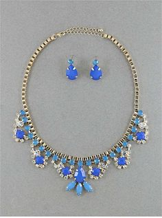 Cobalt Dreams Necklace & Earring Set from P.S. I Love You More Boutique