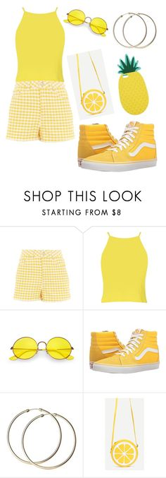"""Yellow from the other side"" by ayakkuot on Polyvore featuring Topshop, Boohoo, Ray-Ban, Vans and Miss Selfridge"