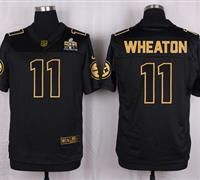 Nike Pittsburgh Steelers #11 Markus Wheaton Black Men's Stitched NFL Elite Pro Line Gold Collection Jersey
