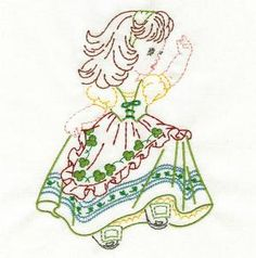 Vintage Children of the Month Colorwork - Embroidery Playground | OregonPatchWorks