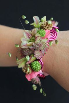 Gorgeous pink & green wedding corsage, pink & green prom corsage. Awesome 51 Most Stunning Wedding Corsage For Your Wedding