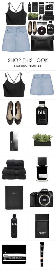 """b@sic"" by charli-oakeby ❤ liked on Polyvore featuring AG Adriano Goldschmied, Sephora Collection, Lux-Art Silks, Christy, MiN New York, FOSSIL, Eos, Tom Ford, Aesop and Summer"