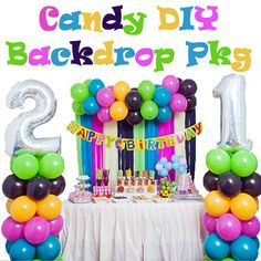 Candy Colour DIY Backdrop Package