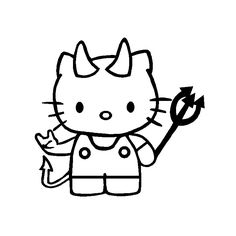 Coloriage De Hello Kitty 3246