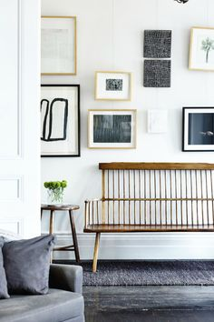 This Melbourne Victorian terrace home belongs to Architect duo Stephen O'Connor and Annick Houle. The couple reimagined the house into a true family home. Living Room Update, Home And Living, Living Room Decor, Living Spaces, Modern Living, Modern Room, Cozy Living, Small Living, Living Rooms