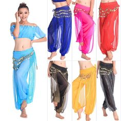 jasmine?  Belly Dance Costume Shinny Bloomers Trousers Harem Pants | eBay