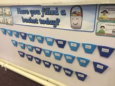 Bucket Filling  Everyone has an invisible bucket of emotions that they carry around. Are you a bucket filler or a bucket dipper? Kids love it and respond well to it.