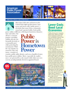 Public Power Fact Sheet Page 1