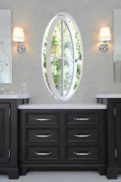 Cool Oval Window That Swivels Open Like The Shiny Subway Tiles Dark Cupboardulti Level Countertop Too