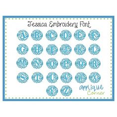 Jessica Embroidery Font