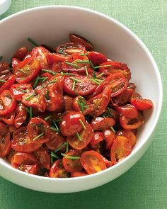 Oven-Roasted Grape Tomatoes with Chives Recipe