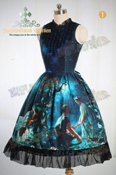 """A Midsummer Night's Dream"": Classic Lolita Sleeveless Dress*2colors Instant Shipping - fanplusfriend in blue or in purple"