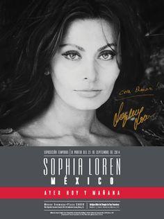 """Este 21 de septiembre se inaugura la exposición """"Sofía Loren.México. Ayer, hoy y mañana"""" en el Museo Soumaya como celebración de los 80 años de Sofia Loren. http://www.linio.com.mx/libros-y-musica/cine/"""