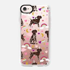 iPhone Case - German Shorthair Pointer unicorn dog breed pet portrait clear case tech accessories dog lover