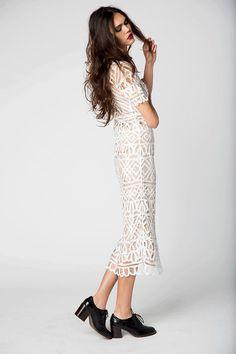 Denver Dress- White (with slip) | Stone Cold Fox