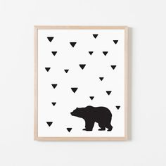 Bear Printable Illustration Nursery Print by LittlePeopleCoShop