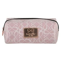 This make-up bag is makes it easy to take all your make-up items with you and features an all-over print and a handy zip closure.