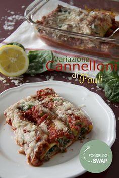Canneloni gevuld met spinazie en ricotta