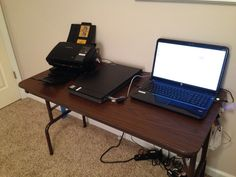 My photo scanning setup using EZPhotoscan scanner!