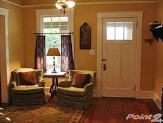 This front door style would work well. I like that it would allow some light into the foyer.