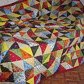 Для дома и интерьера ручной работы. Ярмарка Мастеров - ручная работа русское лоскутное одеяло. Handmade.