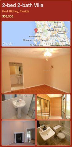 2-bed 2-bath Villa in Port Richey, Florida ►$58,500 #PropertyForSaleFlorida http://florida-magic.com/properties/31750-villa-for-sale-in-port-richey-florida-with-2-bedroom-2-bathroom