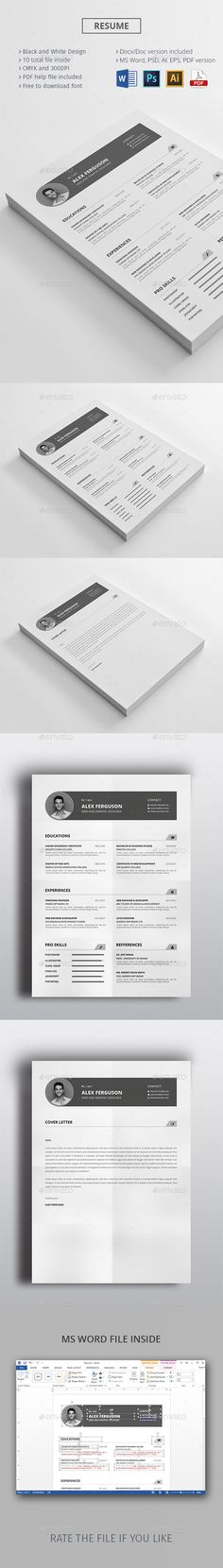 Clean Resume  Cover Letters Resume And Resume Templates