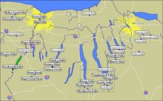 Map of WaterFalls of the Finger Lakes: not all are the visible from the road, some have hiking trails, and some are in State Parks, a few are on land run as a trust, and some are on private property. Great gully is one owned by a trust, it's on NY 90 between Cayuga and Aurora. It has a sign. For Private property ask the owner, and abide his.her answer