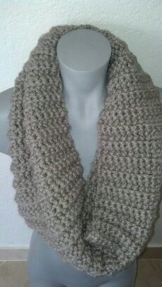 Tan Infinity scarf by Crochetawayyy on Etsy, $20.00