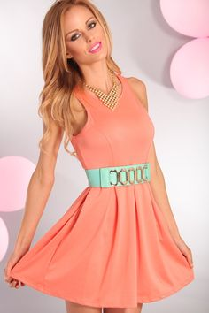 Coral Skater Dress | Fashion | Pinterest | Home, Dresses and Coral