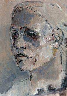 Image of STUDIO SALE Bertrand - Original Acrylic Portrait on Paper