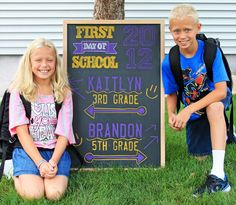 First day of school signs, printables for all grades (first and last days)