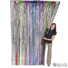 Super Z Outlet ft x ft Metallic Tinsel Foil Fringe Curtains for Party Photo Backdrop Wedding Decor (Rainbow) Decoration Disco, Rainbow Curtains, Foil Curtain, Rock Star Party, Fun Express, Disco Party, 70s Party, Retro Party, Movie Party