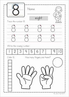 Concepts A fun set of worksheets to help teach early number concepts to children in Preschool and Kindergarten. Teaching Numbers, Numbers Preschool, Math Numbers, Preschool Classroom, Preschool Learning, Kindergarten Worksheets, Math Activities, Help Teaching, Teaching Math